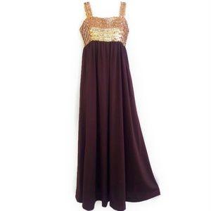 Vintage Coco California Gown Sequin Empire Waist